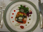 The first of many, many courses, Kyoto Prize Banquet